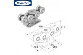 DHS20220 DOORHAN Опора роликовая в сборе для балки 138х144х6