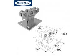 DHS20320 Опора роликовая в сборе для балки 71х60х3,5 DHS203060