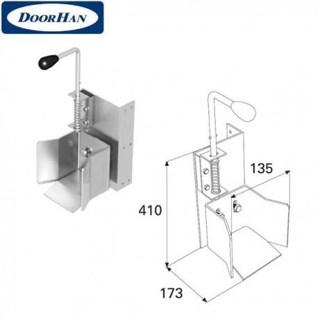 DHS20140 Ловитель нижний с задвижкой для балки 95х88х5 DHS201060