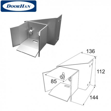 DHS20340 Ловитель нижний для балки 71х60х3,5