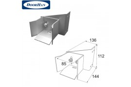DHS20340 DOORHAN Ловитель нижний для балки 71х60х3,5