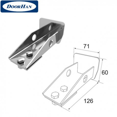DHS20350 Крышка задняя для балки 71х60х3,5 DHS203060